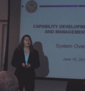 Giving a lecture at Defense Acquisition University, Fort Belvoir, VA